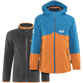 Jack Wolfskin B Iceland Jacket Children orange/blue